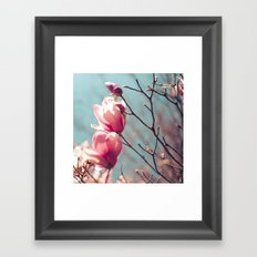japanese magnolias Framed Art Print