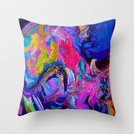 Abstract Viscosity Throw Pillow