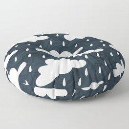 Clouds and Rain Pattern Floor Pillow