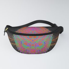 Visionary Flame (psychedelic, trippy, hallucination, meditation) Fanny Pack