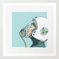 pilot Art Prints featuring Pilot by Jason Ratliff