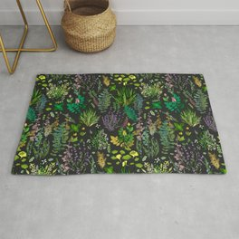 Aromatic Garden for Health and Well Being Rug