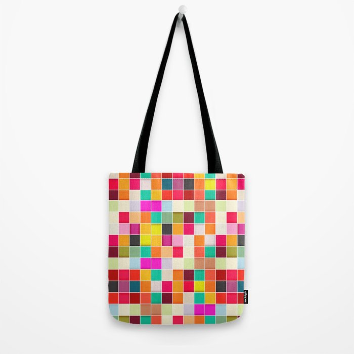 Colorful Rectangles Tote Bag