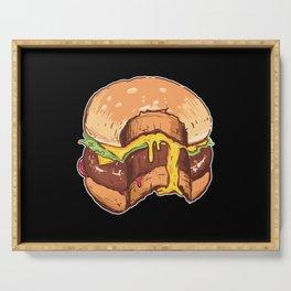 Cheesy Burger Serving Tray