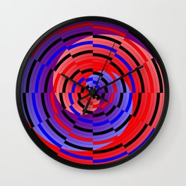 Red & Blue Counter Spiral Wall Clock