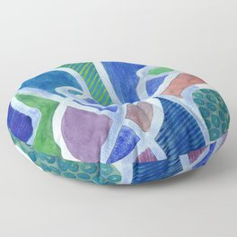 Curved Paths Floor Pillow