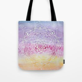 Rainbow Watercolor Mandala Tote Bag