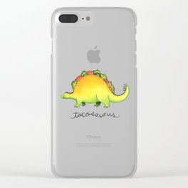 Tacosaurus Clear iPhone Case