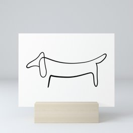 Picasso Dog Print Modern Sketch Picasso Mini Art Print