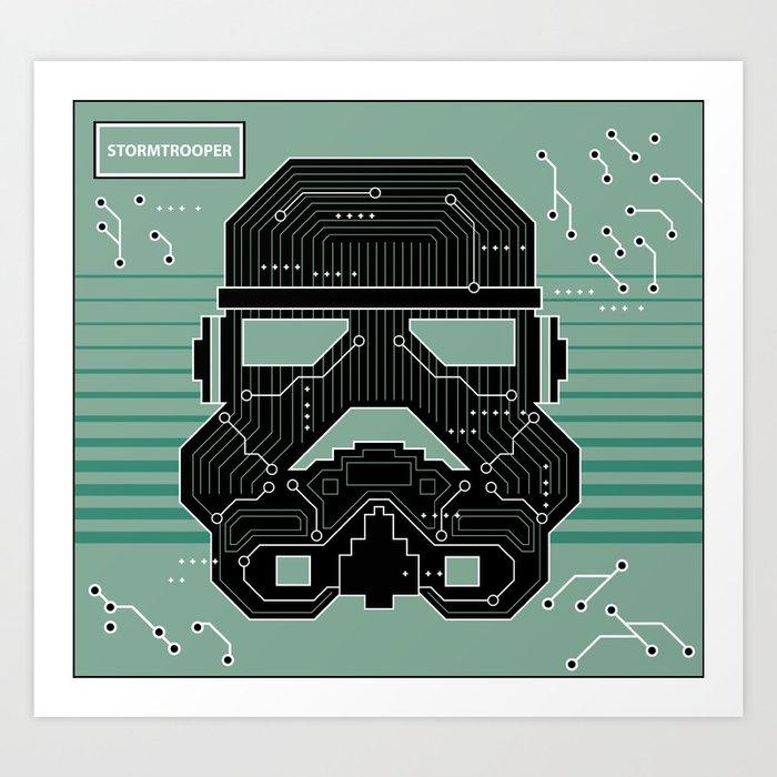 Stormtrooper Electronic Circuit Board Art Print by joelbetancourt ...
