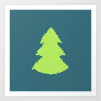 christmas tree Art Prints featuring (Christmas) Tree by Mr and Mrs Quirynen