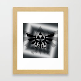 The Legend Of Zelda Logo Framed Art Print