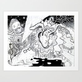 heart of magic Art Print