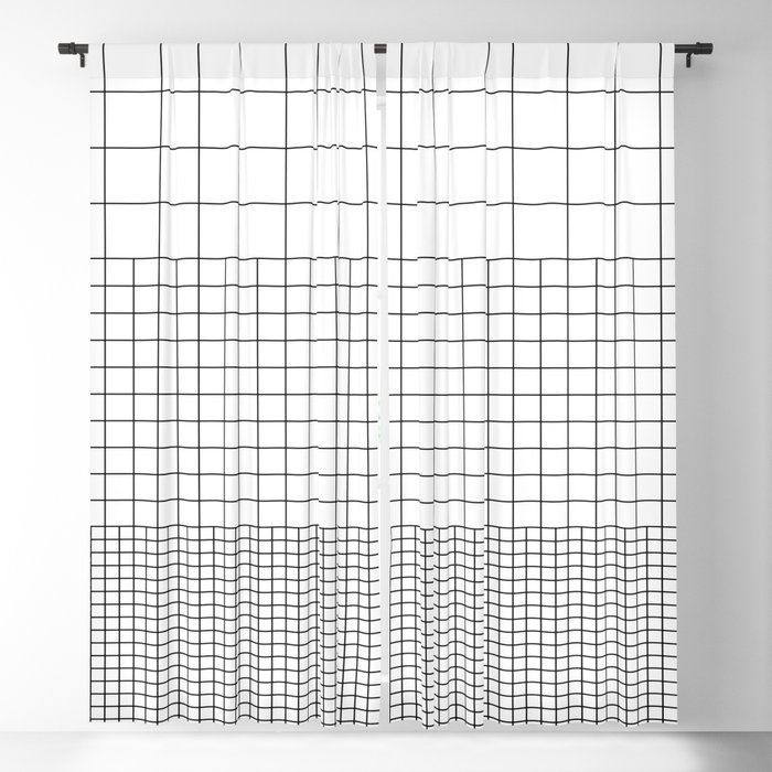 3 Grids Blackout Curtain