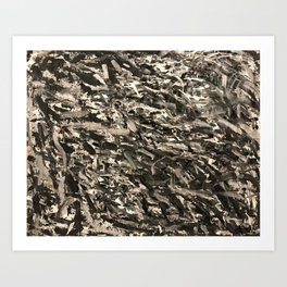 Black and White Abstract Painting Art Print