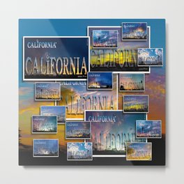 California POSTCARD HD by JC LOGAN 4 Simply Blessed Metal Print