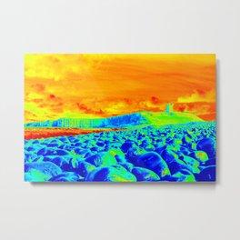 Color crazy Dunstanburgh Metal Print