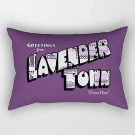Greetings from Lavender Town Rectangular Pillow