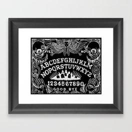 Ouija Board Black Framed Art Print