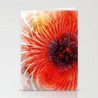 poppy Stationery Cards featuring Poppy by Klara Acel