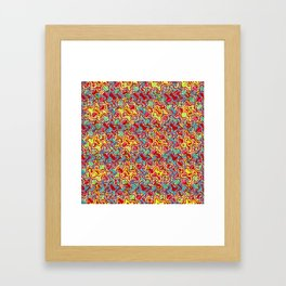Polyp Red - Coral Reef Series 016 Framed Art Print