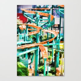 Mall Of America Roller Coasters Canvas Print