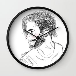 Scribble Zayn Wall Clock