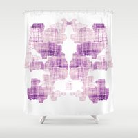 rorschach Shower Curtains featuring Rorschach by Adrienne