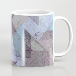 PLUM TURQUOISE ABSTRACT GEOMETRIC Coffee Mug