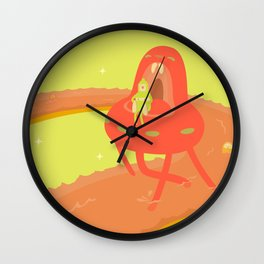 Tomoto on the Highway Wall Clock