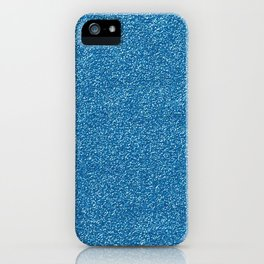 Shiny Glitter, Sparkling Glitter Glow - Blue iPhone Case