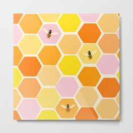 Busy As A Bee In A Hive Metal Print