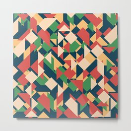 Abstract geometric background. Modern overlapping triangles and squares. Metal Print
