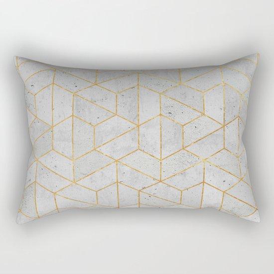 Concrete Hexagonal Pattern Rectangular Pillow