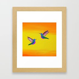Hummingbird Sunset Framed Art Print