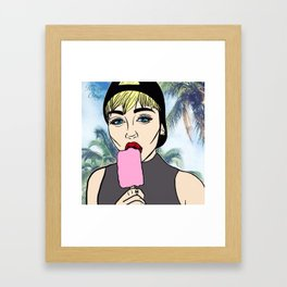 Miley Popsicle Paradise Framed Art Print