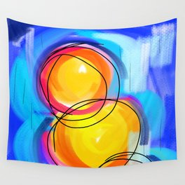 Paint abstract circle Wall Tapestry