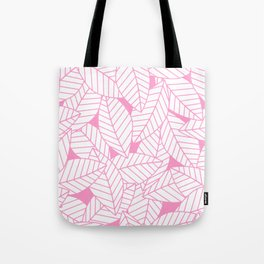 Leaves in Flamingo Tote Bag