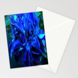 Blue velvet Geranium Stationery Cards