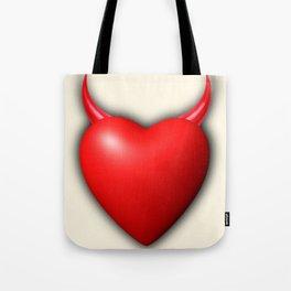 Heart Series Love Red Devil Horns Love Valentine Anniversary Birthday Romance Sexy Red Hearts Valent Tote Bag