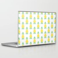pineapple Laptop & iPad Skins featuring Pineapple by Jacqueline Maldonado