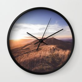Dusk - Landscape and Nature Photography Wall Clock
