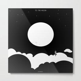 To The Moon - bnw (instagram) Metal Print