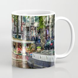 Amsterdam Houseboat on Canal Coffee Mug