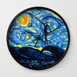 Jack Starry night iPhone 4 5 6 7 8, pillow case, mugs and tshirt Wall Clock