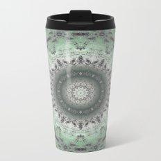 Grey-green kaleidoscope Metal Travel Mug