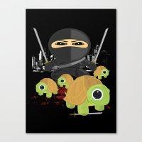 ninja turtles Canvas Prints featuring Ninja Turtles by Adamzworld