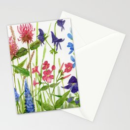 Garden Flowers Botanical Floral Watercolor on Paper Stationery Cards