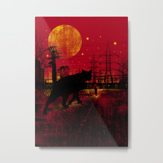 Cleo in the Dark Metal Print