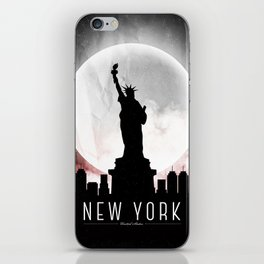 Black-White New York iPhone Skin